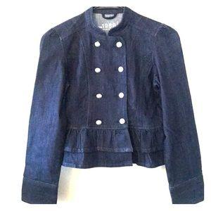 Gap Kids Girls Dark Denim Jacket XL EUC